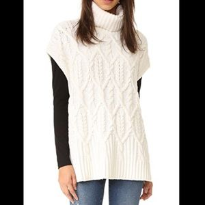 Theory Boseley C Sleeveless Sweater Chunky Cable